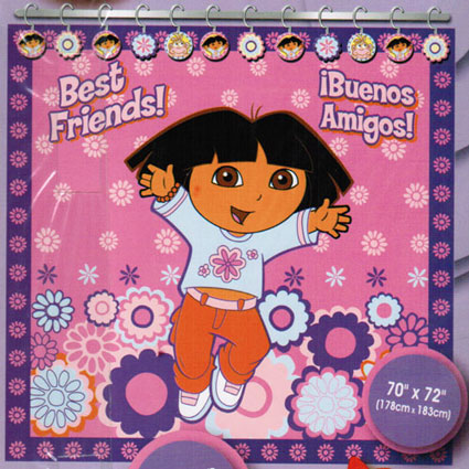 Out of Stock Dora the Explorer Vinyl Shower Curtain