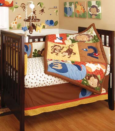 Jungle 123 - 6 Piece Baby Crib Bedding Set by Kidsline Free Shipping