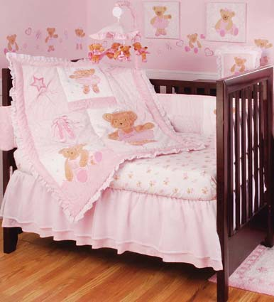 Twirling Around 6 Pc Baby Crib Bedding Set by Kidsline Free Shipping