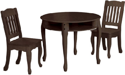 Windsor Children's Round Table & Chairs Set in Espresso by Teamson Kids