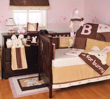 B is for Bunny 4-Piece Crib Bedding Set by Kidsline