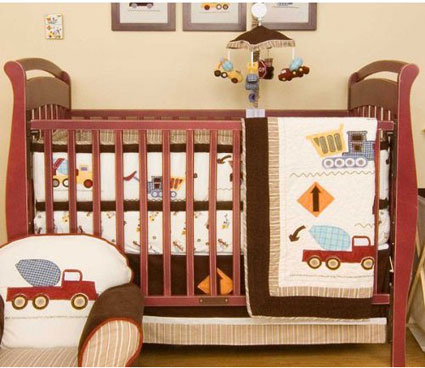 Stop and Go 6-Piece Crib Bedding Set by Kidsline Free Shipping