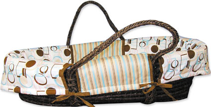 Out of Stock Cocoa Dots Moses Basket Set by Trend Lab