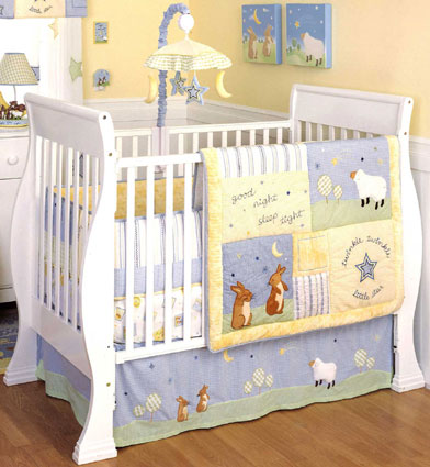 Good Night Sleep Tight 6 Pc Crib Bedding Set by Kidsline Free Shipping