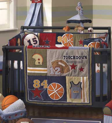 Playoffs 6 Piece Baby Crib Bedding Set by Lambs & Ivy Free Shipping