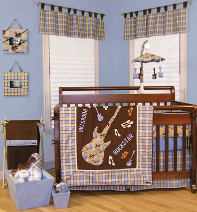 Rockstar 4 Pc Crib Bedding Set Free Shipping