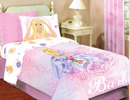 Barbie Roses Full Comforter