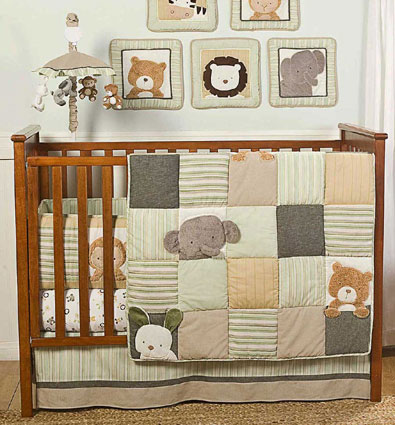 Bear and Buddies Crib Bedding 6 Piece Set by Kidsline