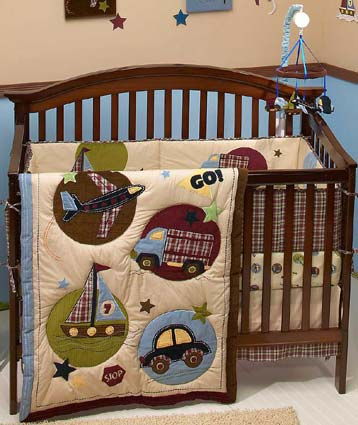 Good To Go 6 Pc Baby Crib Bedding Set by NoJo Free Shipping