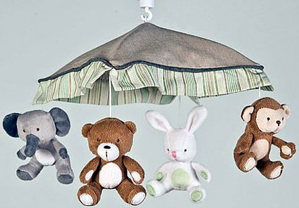 Bear and Buddies Musical Mobile by Kidsline