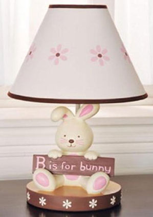 B is for Bunny Nursery Lamp and Shade by Kidsline