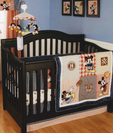 Out of stock Vintage Mickey 4 Piece Baby Crib Bedding Set by Kidsline