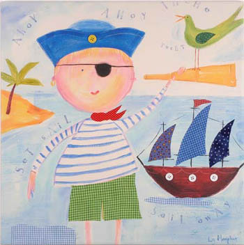 Pirate Kids Giclee Canvas Reproduction Art
