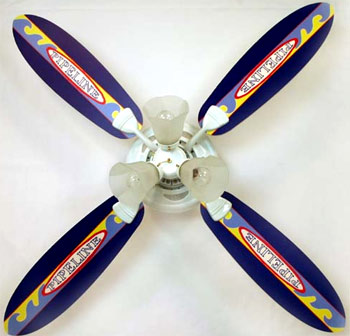 Out of Stock Pipeline Surfboard Kids Ceiling Fan with Lights