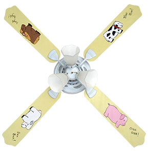 Out of Stock Farm Babies Nursery Room Ceiling Fan with Lights