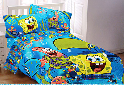 SpongeBob Squarepants FULL Comforter -  Pajama Party