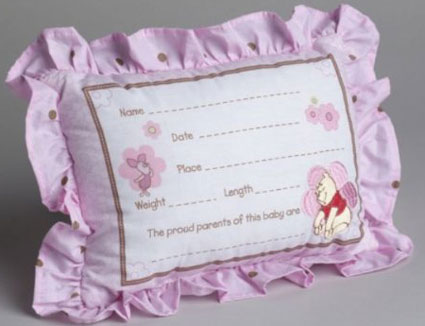 Winnie the Pooh Flower Friends Embroidered Keepsake Pillow