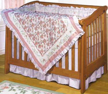 Peabody 4-Piece Crib Bedding Set by ZZ Baby