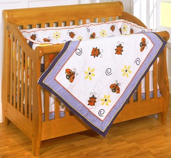 Lady Bug Garden 4-Piece Crib Bedding Set by ZZ Baby