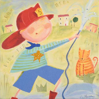 Fire Hero Kids Giclee Canvas Reproduction Art