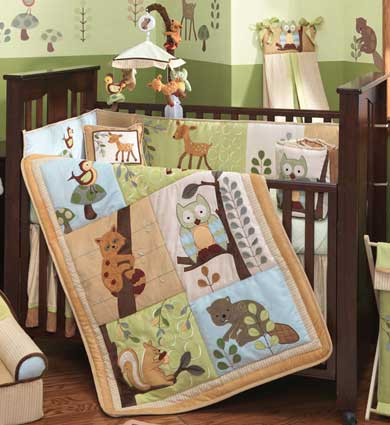 Enchanted Forest 6 Piece Baby Crib Bedding Set by Lambs & Ivy Free Shipping