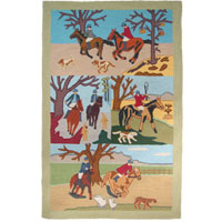 Fox Hunt Kids Area Rug