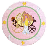 Fairy Tale Princess Girls Area Rug