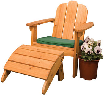 Adirondack Kids Chair & Ottoman