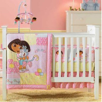 Dora the Explorer Baby Crib Bedding 4 Piece Set