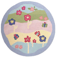 Flower Power Girls Area Rug