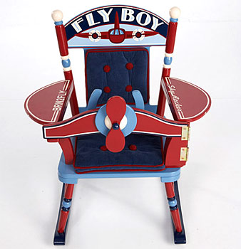 Fly Boy Airplane Rocker Free Shipping