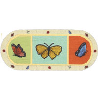 Butterfly Kisses Hallway Rug