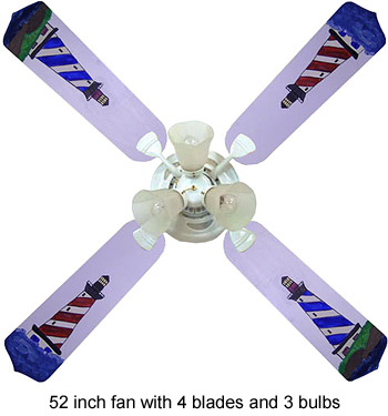 Out of Stock Lighthouse Nautical Childrens Ceiling Fan with Lights