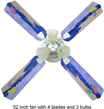 Out of Stock Beach Umbrella Kids Ceiling Fan with Lights