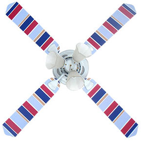 Out of Stock Rugby Stripe Childrens Ceiling Fan with Lights