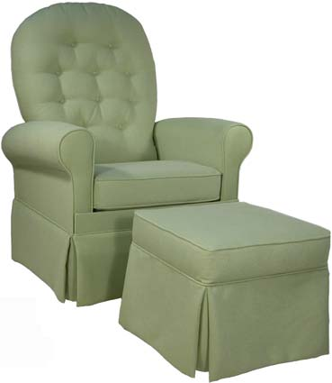 Demare Gliders Upholstered Glider Rocker & Ottoman 2359