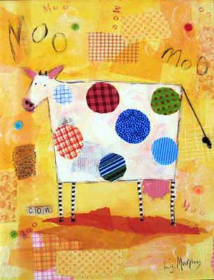 Cow Kids Giclee Canvas Reproduction Art