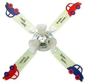 Out of Stock Crazy Cars Boys Ceiling Fan with Lights