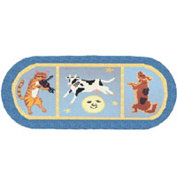 Hey Diddle Diddle Kids Hall Runner Rug