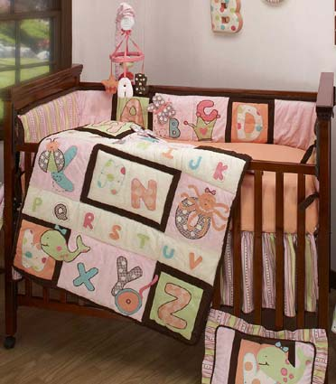 Abc Me 4 Piece Baby Crib Bedding Set By Kimberly Grant