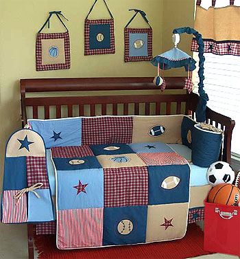 Boys Will be Boys Crib Bedding 10-PC Set