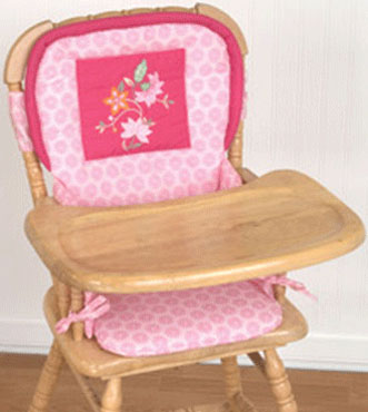 High Chair Pad - Tiger Lily by KidsLine