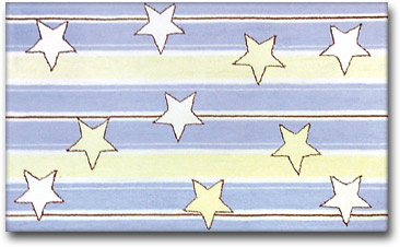 Star Strip Children's Rug