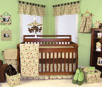 Jungle Jam 4 Pc Crib Bedding Set Free Shipping