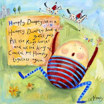 Humpty Dumpty Nursery Giclee Canvas Reproduction Art