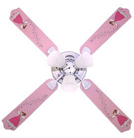 Out of Stock Pixie Princess Nursery Ceiling Fan with Lights