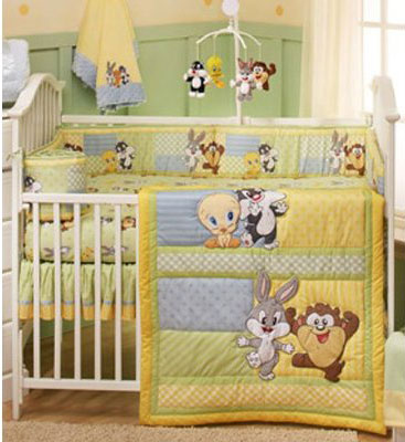 Baby Looney Tunes 4-piece Crib Bedding Set