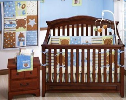 Teddy Bear Crib Bedding 4-piece Set