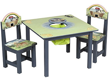 Noah S Ark Kids Table Amp Chairs Set Guidecraft Baby