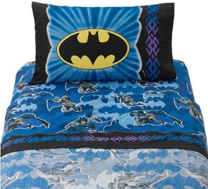 Batman Twin Sheet Set Shades Of Blue Twin Bedding